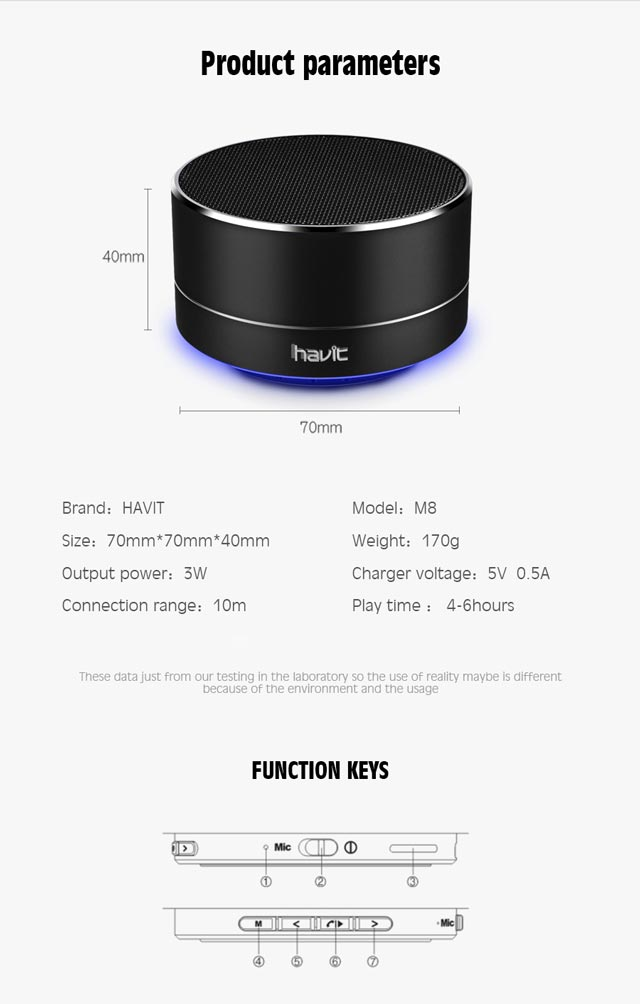 Boxa Bluetooth Mini | Havit M8 9