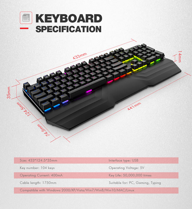 Tastatura Mecanica RGB Havit KB432L 5