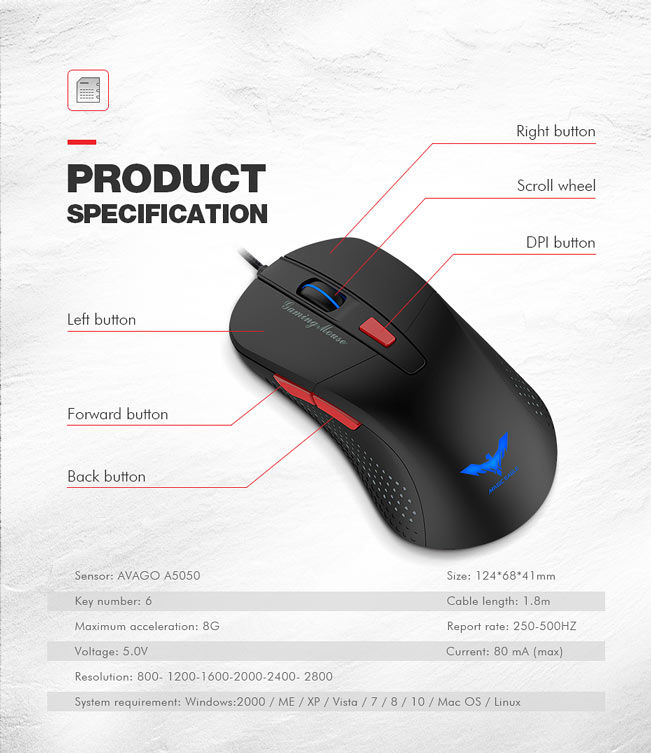 Mouse Havit MS745 2
