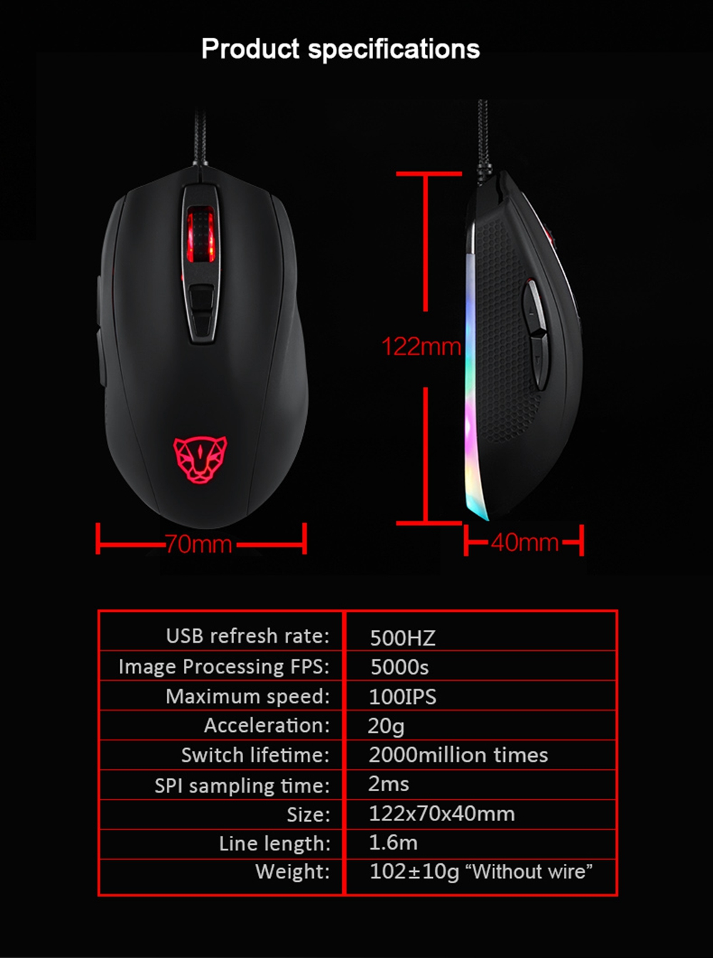 Mouse Motospeed V60 3
