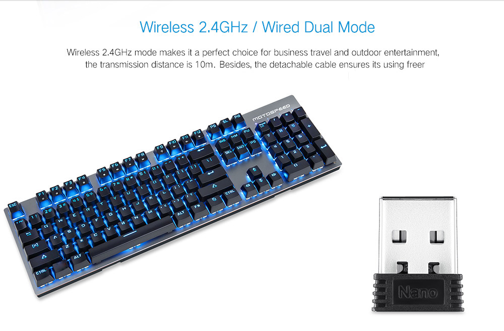 Tastatura mecanica dual mode (wired/wireless) Motospeed GK89 5