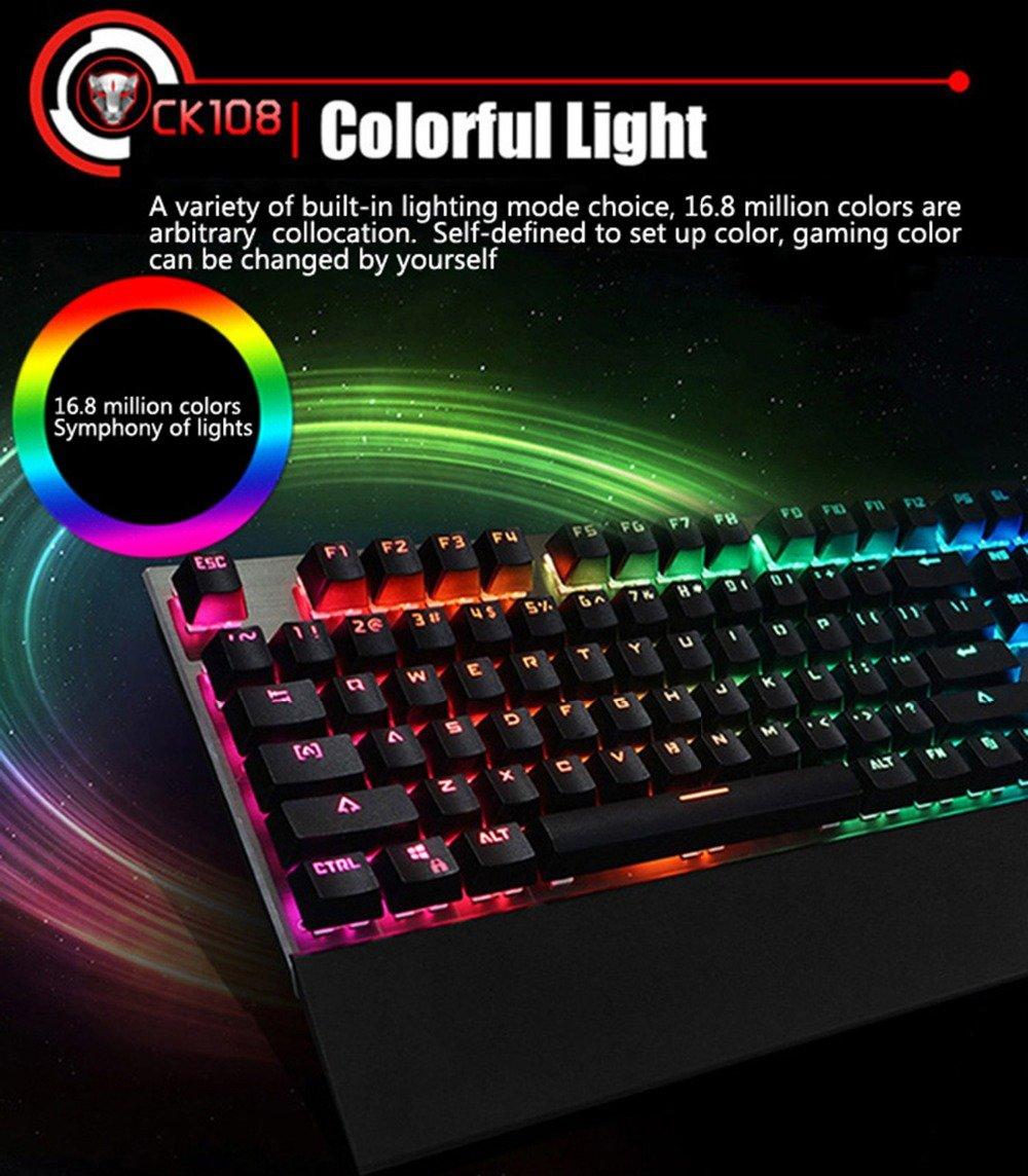 Tastatura Mecanica RGB Motospeed CK108 5