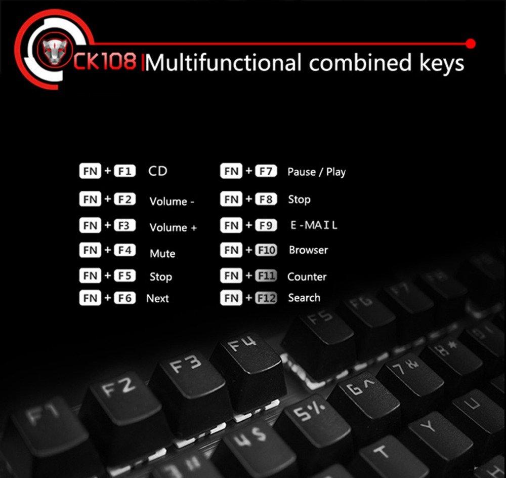 Tastatura Mecanica RGB Motospeed CK108 6