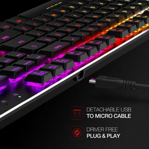 Tastatura Mecanica Ultra-Slim RGB Havit KB395L
