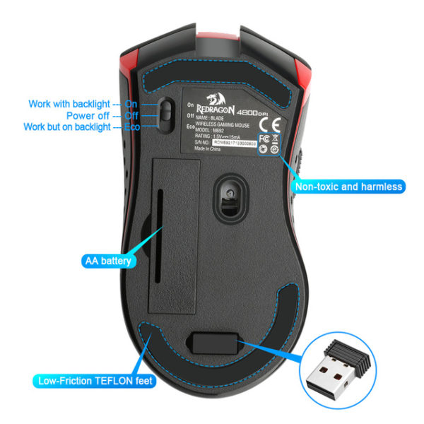 Mouse Wireless Redragon Blade 3